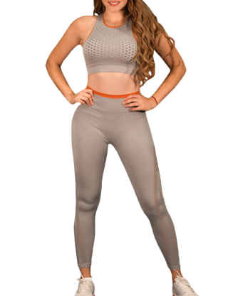 SEMATOMALA Women's 2 Piece Yoga Outfits Tank Top Sports Bra+High Waist Seamless Leggings Set Workout Athletic Gym Clothes