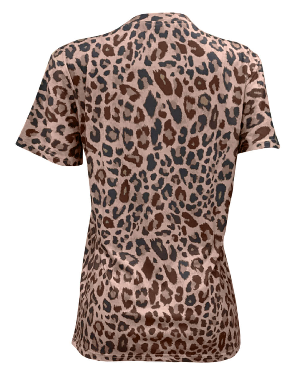 Spring Summer New Women T-Shirt Casual Leopard Print Round Neck Short Sleeve Shirt Ladies Tops Tees Womens Clothing