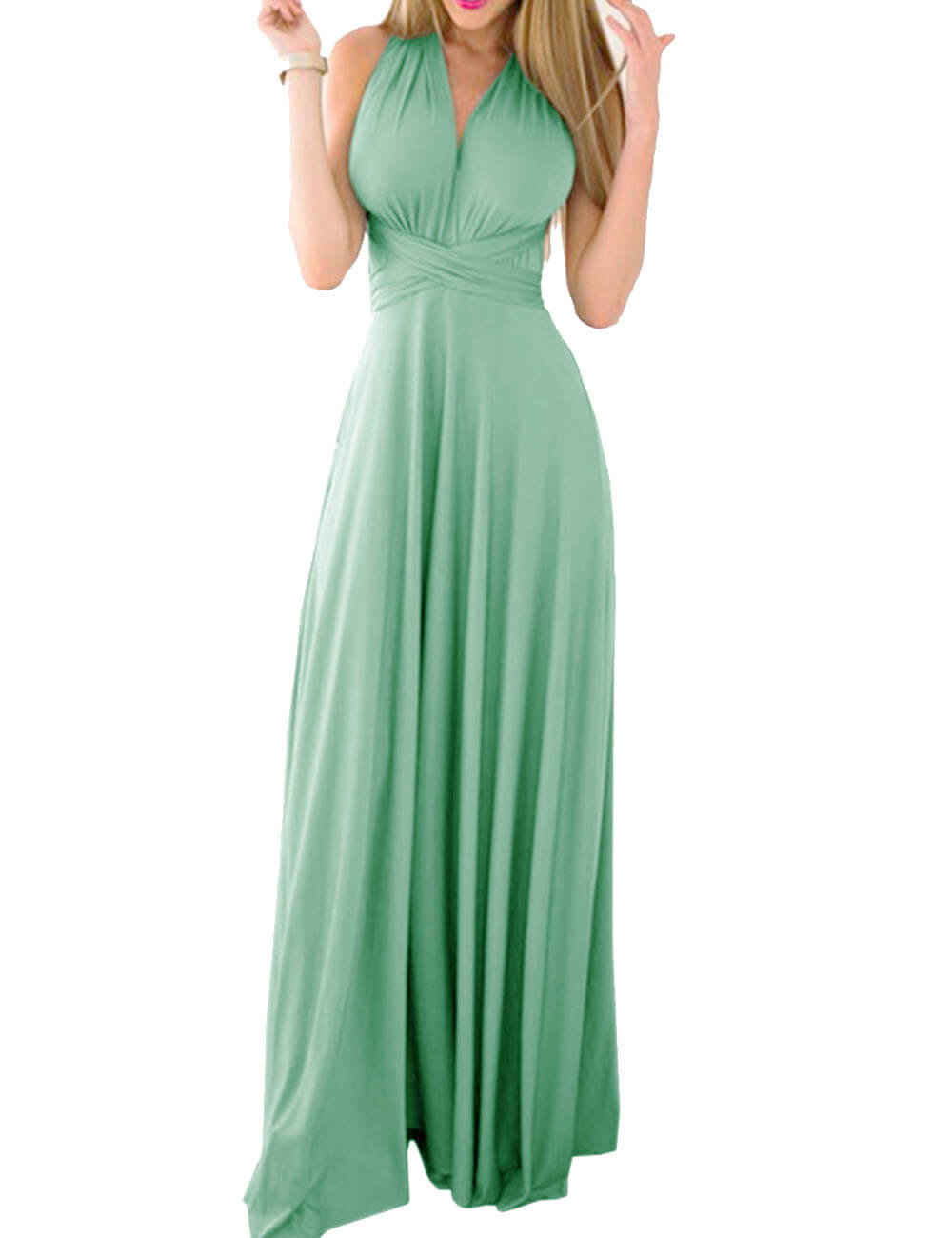 Women's Backless wedding  bridesmaid  Cocktail   Long Dress